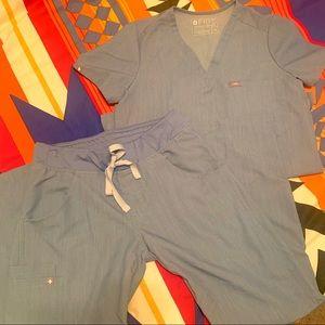 Figs Scrub set. Heather indigo, Limited Ed